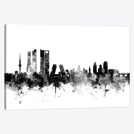 Madrid, Spain In Black & White Canvas Print #MTO850} by Michael Tompsett Canvas Wall Art