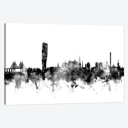 Malmo, Sweden In Black & White Canvas Print #MTO851} by Michael Tompsett Canvas Artwork