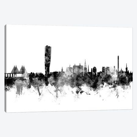 Malmo, Sweden In Black & White Canvas Print #MTO851} by Michael Tompsett Canvas Artwork