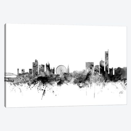 Manchester, England In Black & White Canvas Print #MTO852} by Michael Tompsett Canvas Art