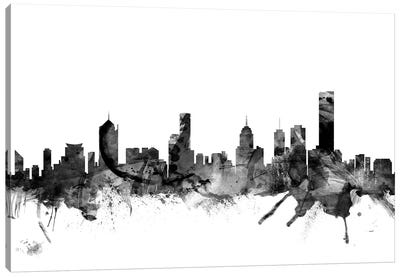 Melbourne, Australia In Black & White Canvas Art Print