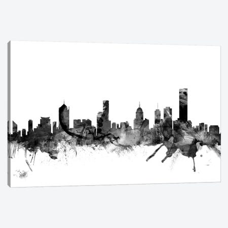 Melbourne, Australia In Black & White Canvas Print #MTO853} by Michael Tompsett Canvas Artwork