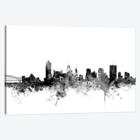 Memphis, Tennessee In Black & White Canvas Print #MTO854} by Michael Tompsett Canvas Art Print