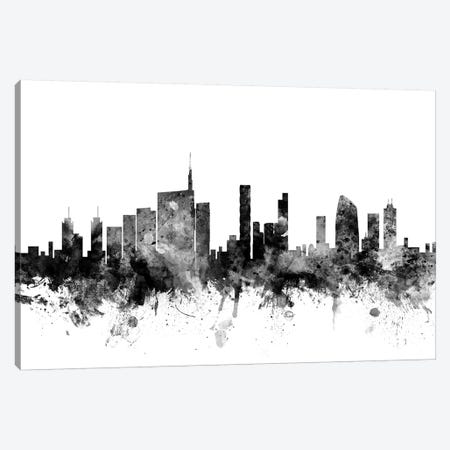 Milan, Italy In Black & White Canvas Print #MTO857} by Michael Tompsett Canvas Print