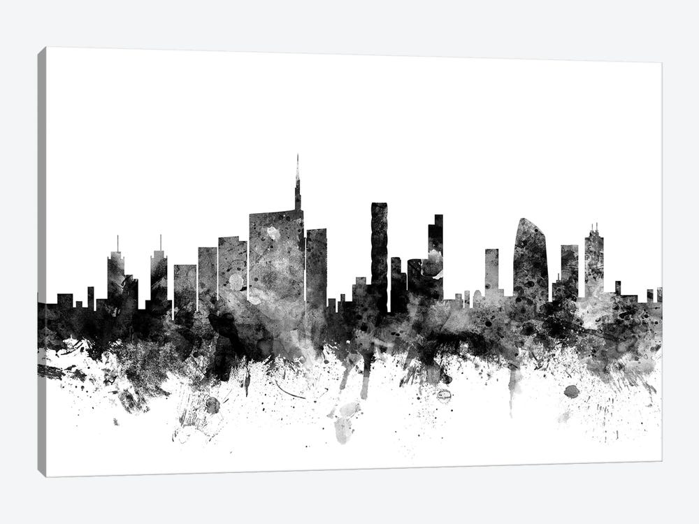 Milan, Italy In Black & White by Michael Tompsett 1-piece Canvas Artwork