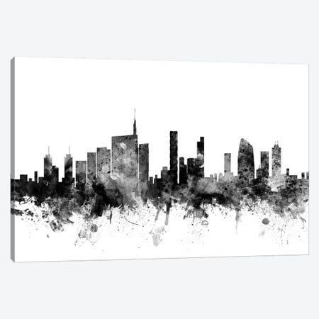 Milan, Italy In Black & White Canvas Print #MTO857} by Michael Tompsett Canvas Print
