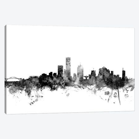 Milwaukee, Wisconsin In Black & White Canvas Print #MTO858} by Michael Tompsett Canvas Wall Art