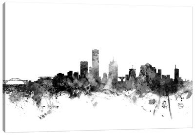 Milwaukee, Wisconsin In Black & White Canvas Art Print