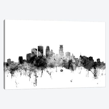 Minneapolis, Minnesota In Black & White Canvas Print #MTO859} by Michael Tompsett Canvas Art