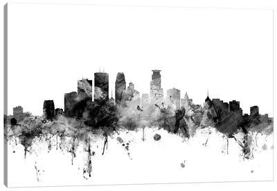 Minneapolis, Minnesota In Black & White Canvas Art Print
