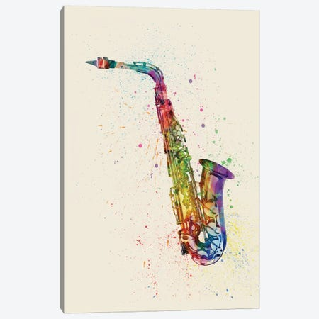 Saxophone Canvas Print #MTO85} by Michael Tompsett Canvas Art