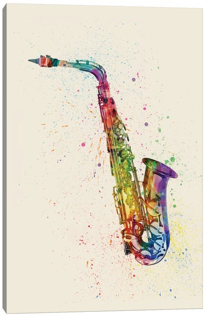 Musical Instrument Series: Saxophone Canvas Print #MTO85