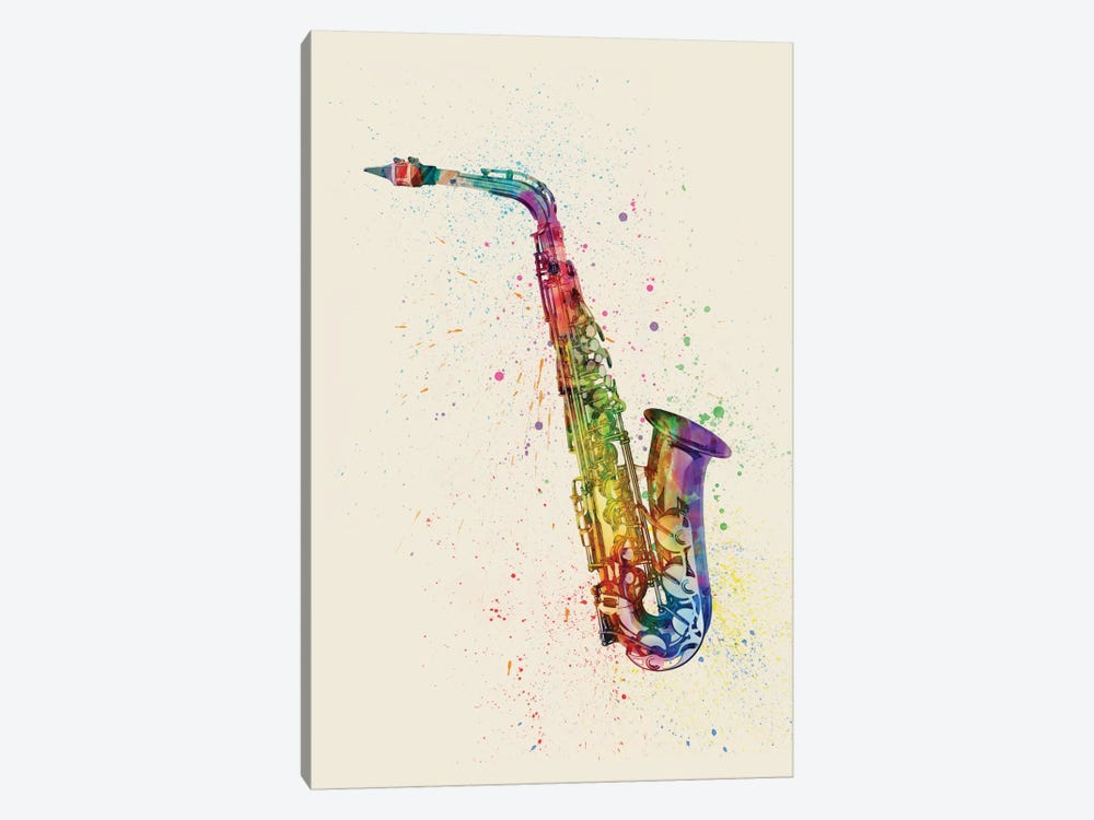 Saxophone by Michael Tompsett 1-piece Canvas Artwork