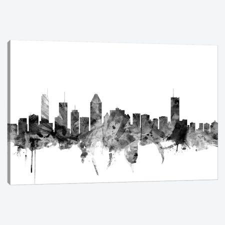 Montreal, Canada In Black & White Canvas Print #MTO860} by Michael Tompsett Canvas Print