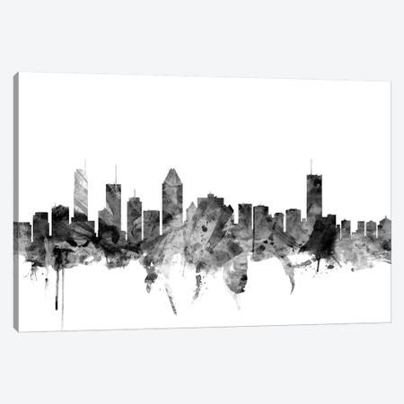 Montreal, Canada In Black & White Canvas Print #MTO860} by Michael Tompsett Canvas Print