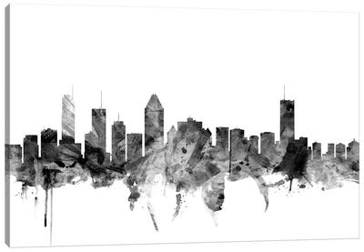 Montreal, Canada In Black & White Canvas Art Print