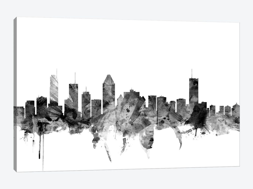 Montreal, Canada In Black & White by Michael Tompsett 1-piece Canvas Wall Art