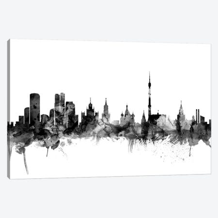Moscow, Russia In Black & White Canvas Print #MTO861} by Michael Tompsett Canvas Art Print