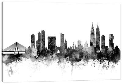 Mumbai (Bombay),  India In Black & White Canvas Art Print
