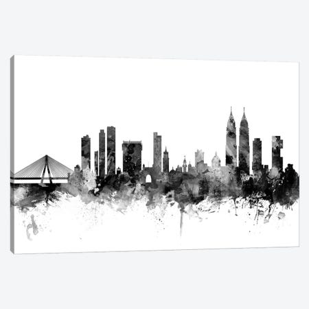 Mumbai (Bombay),  India In Black & White 3-Piece Canvas #MTO862} by Michael Tompsett Art Print