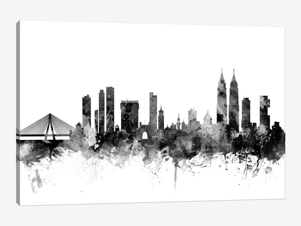 Mumbai (Bombay),  India In Black & White by Michael Tompsett 1-piece Canvas Artwork