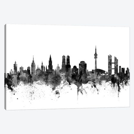 Munich, Germany In Black & White Canvas Print #MTO863} by Michael Tompsett Art Print