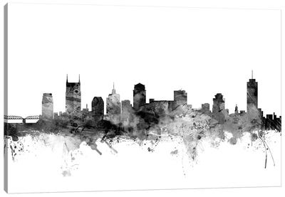 Nashville, Tennessee In Black & White Canvas Art Print