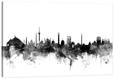 New Delhi, India In Black & White Canvas Art Print