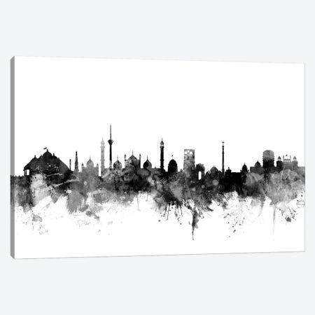 New Delhi, India In Black & White 3-Piece Canvas #MTO865} by Michael Tompsett Canvas Artwork