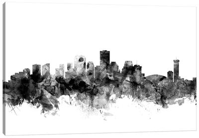 New Orleans, Louisiana In Black & White Canvas Art Print