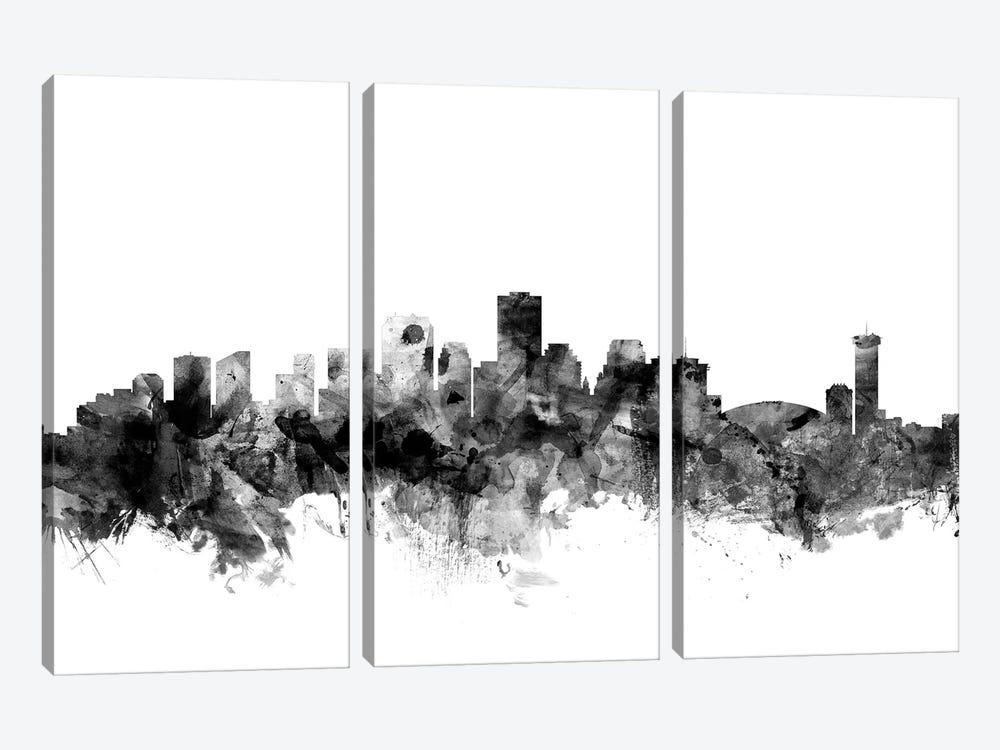 New Orleans, Louisiana In Black & White by Michael Tompsett 3-piece Canvas Artwork