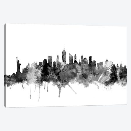 New York City In Black & White I Canvas Print #MTO867} by Michael Tompsett Canvas Art