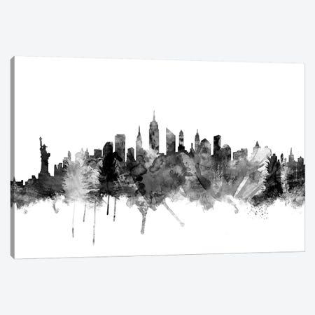 New York City In Black & White I Canvas Print #MTO867} by Michael Tompsett Canvas Art