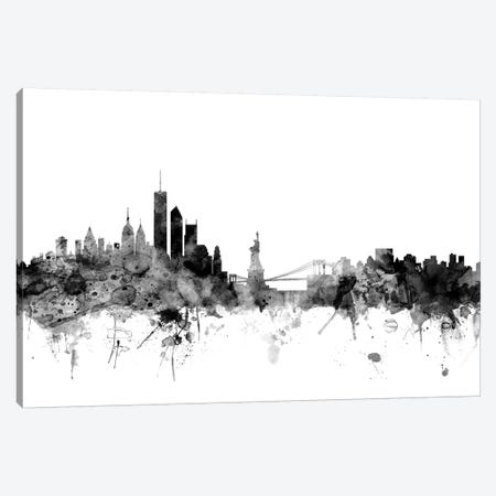 New York City In Black & White II Canvas Print #MTO868} by Michael Tompsett Art Print