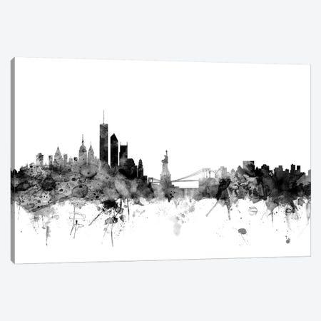 New York City In Black & White II Canvas Print #MTO868} by Michael Tompsett Art Print
