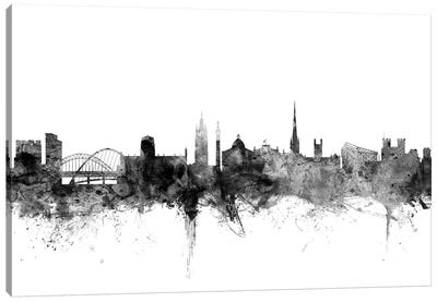 Newcastle, England In Black & White Canvas Art Print