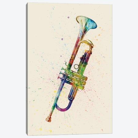 Trumpet Canvas Print #MTO86} by Michael Tompsett Canvas Artwork