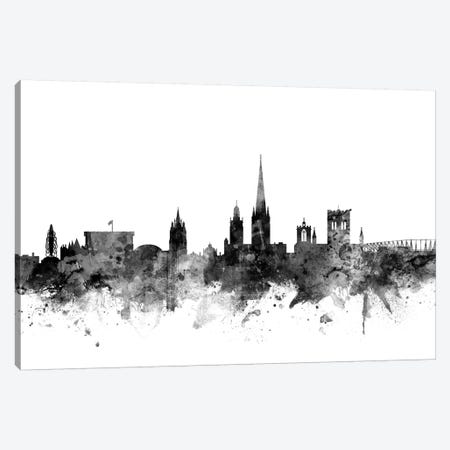 Norwich, England In Black & White Canvas Print #MTO870} by Michael Tompsett Canvas Art