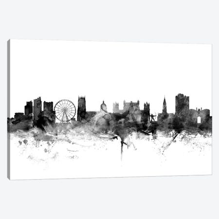Nottingham, England In Black & White Canvas Print #MTO871} by Michael Tompsett Canvas Art