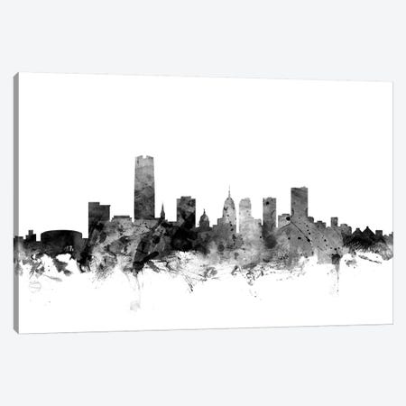 Oklahoma City In Black & White Canvas Print #MTO872} by Michael Tompsett Canvas Artwork