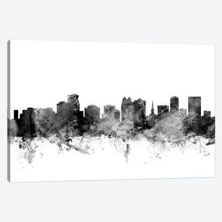 Orlando, Florida In Black & White Canvas Print #MTO873} by Michael Tompsett Canvas Wall Art