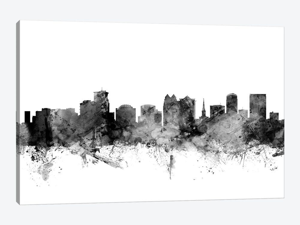 Orlando, Florida In Black & White 1-piece Canvas Art