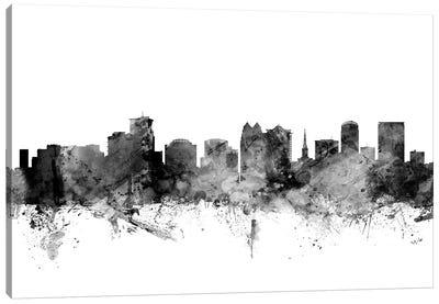 Orlando, Florida In Black & White Canvas Art Print