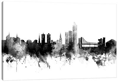 Oslo, Norway In Black & White Canvas Art Print