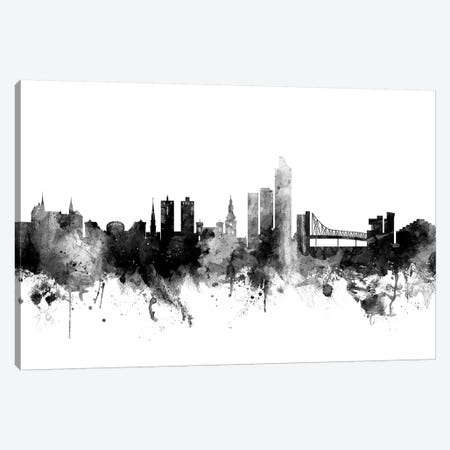 Oslo, Norway In Black & White Canvas Print #MTO874} by Michael Tompsett Canvas Print