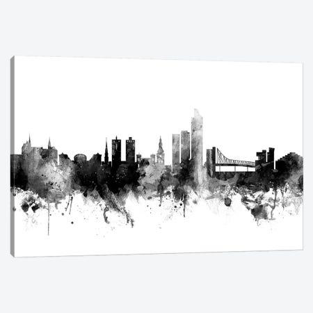 Oslo, Norway In Black & White Canvas Print #MTO874} by Michael Tompsett Canvas Print
