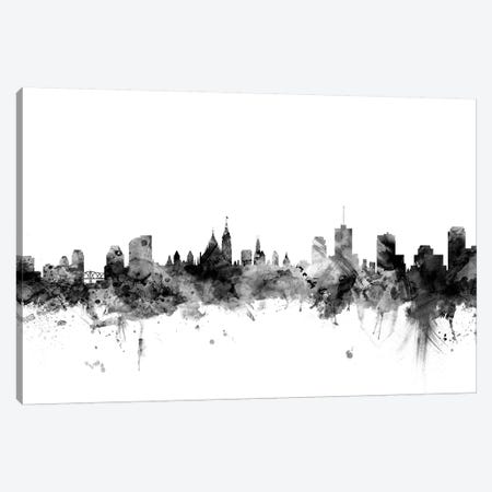 Ottawa, Canada In Black & White Canvas Print #MTO875} by Michael Tompsett Canvas Art Print