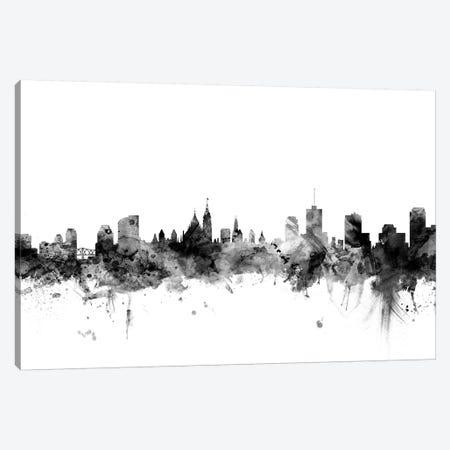 Ottawa, Canada In Black & White Canvas Print #MTO875} by Michael Tompsett Canvas Art Print