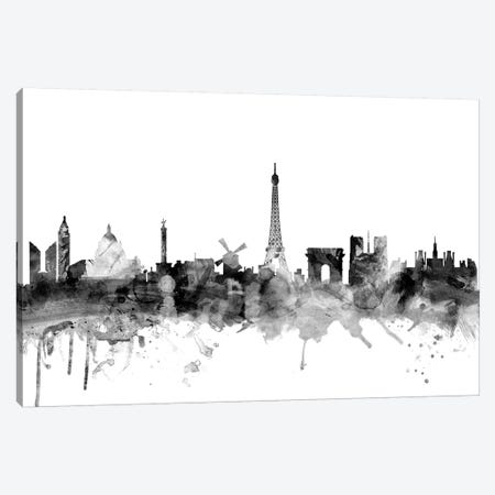 Paris, France In Black & White Canvas Print #MTO877} by Michael Tompsett Canvas Print