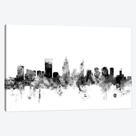 Perth, Australia In Black & White Canvas Print #MTO878} by Michael Tompsett Canvas Art